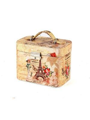 Шкатулка для ювелирных украшений 17*12*15см Русские подарки. Цвет: светло-коричневый, светло-оранжевый, горчичный