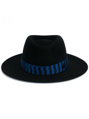 Фетровая шляпа Henrietta Bondage Maison Michel. Цвет: синий