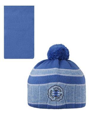 Шапка, шарф Pro-han. Цвет: голубой, светло-голубой
