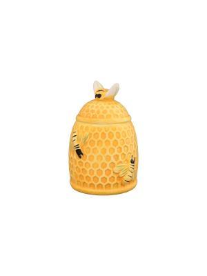 Горшочек для меда Пчелки на сотах Elan Gallery. Цвет: желтый