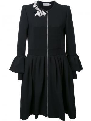 Платье-рубашка с оборками Preen By Thornton Bregazzi. Цвет: чёрный