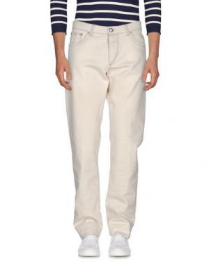 Джинсовые брюки BARBA Napoli. Цвет: слоновая кость