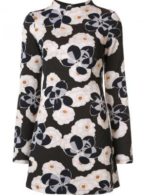 Жаккардовое платье с цветочным принтом Suno. Цвет: белый