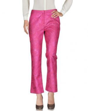 Повседневные брюки JO NO FUI. Цвет: фуксия