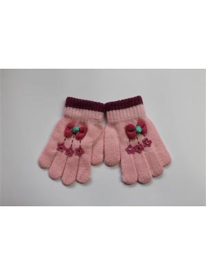 Перчатки Cascatto. Цвет: розовый, белый