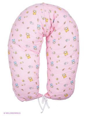 Подушка для беременных и кормления 40 недель. Цвет: розовый