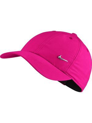 Бейсболка Y NK H86 METAL SWOOSH Nike. Цвет: фуксия, розовый