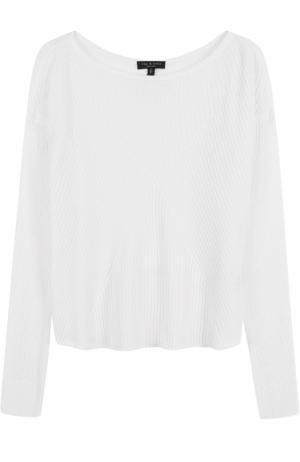 Пуловер фактурной вязки с вырезом-лодочка Rag&Bone. Цвет: белый