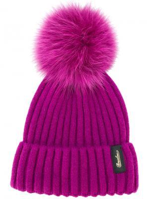 Шапка Cuffie Borsalino. Цвет: розовый и фиолетовый
