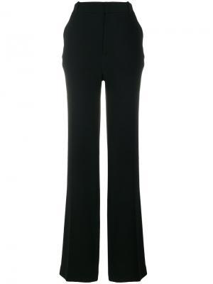 Расклешенные брюки Joseph. Цвет: чёрный