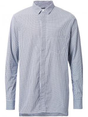 Рубашка в клетку Bassike. Цвет: чёрный