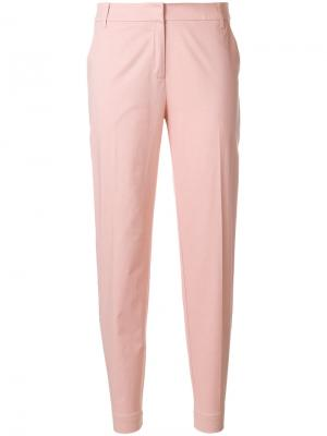 Узкие брюки строгого кроя Essentiel Antwerp. Цвет: розовый и фиолетовый