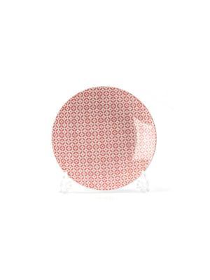 Тарелка 21 см TUNISIE PORCELAINE. Цвет: бледно-розовый
