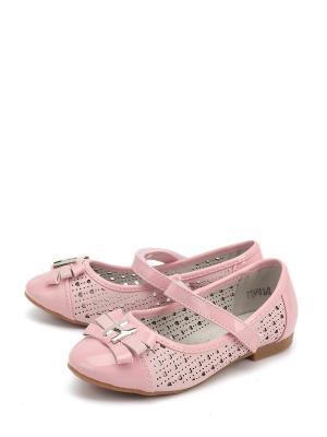 Туфли KENKA. Цвет: розовый