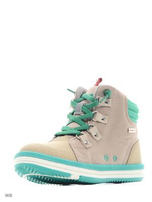 Ботинки Reima. Цвет: серый, зеленый