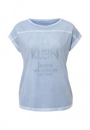 Футболка Calvin Klein Jeans. Цвет: голубой