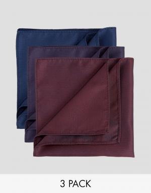 Feraud Набор из 3 платков в горошек. Цвет: мульти