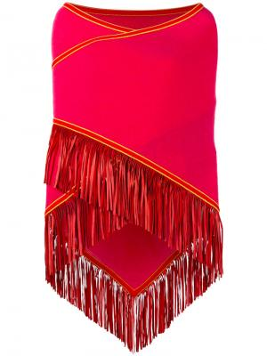 Накидка с бахромой Antonia Zander. Цвет: розовый и фиолетовый