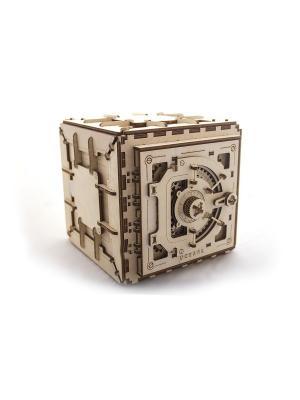 Конструктор 3D-пазл Ugears - Сейф. Цвет: светло-желтый