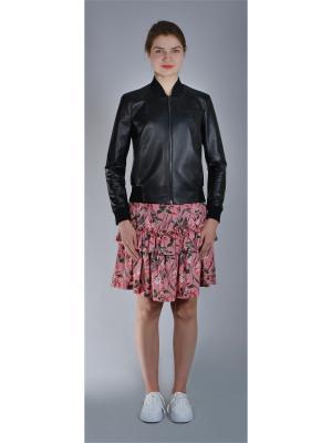 Кожаная куртка Bos Bison. Цвет: черный