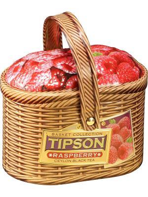 Чай Tipson Лукошко-Малина/Basket-Raspberry 100  ж/б. Цвет: черный