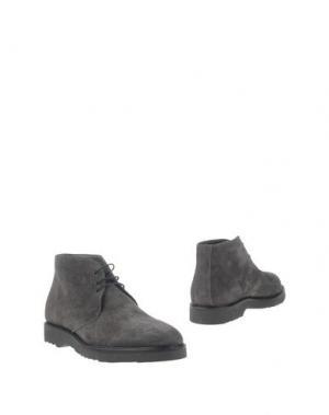 Полусапоги и высокие ботинки BARBATI. Цвет: стальной серый