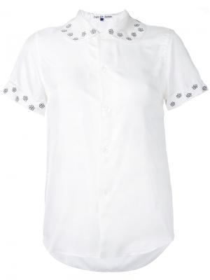 Блузка с цветочной отделкой Jupe By Jackie. Цвет: белый