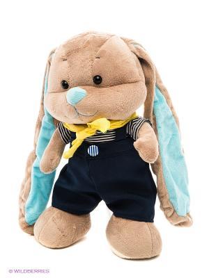 Зайчик Жак в морском костюмчике MAXITOYS. Цвет: темно-синий, бежевый