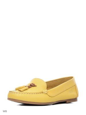 Мокасины Goergo. Цвет: желтый