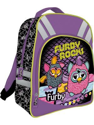 Рюкзак Furby. Цвет: черный, сиреневый