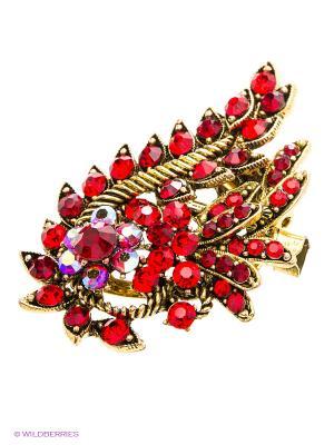 Брошь Lovely Jewelry. Цвет: красный