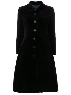 Расклешенное однобортное пальто Aspesi. Цвет: розовый и фиолетовый