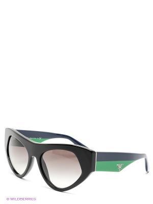Очки солнцезащитные PRADA. Цвет: черный, зеленый, темно-синий