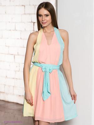 Платье TOM FARR. Цвет: бирюзовый, розовый, желтый