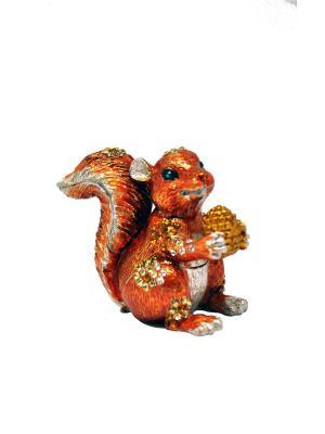 Шкатулка Белка Yen Ten. Цвет: рыжий