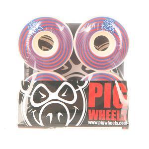 Колеса для скейтборда  Vertigo Red 100A 53 mm Pig. Цвет: красный,синий,белый