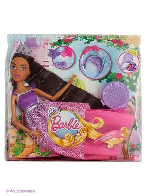 Кукла Барби Dreamtopia. Брюнетка с длинными волосами Barbie. Цвет: розовый, коричневый, фиолетовый
