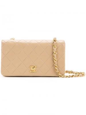 Quilted shoulder bag Chanel Vintage. Цвет: коричневый