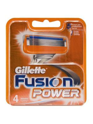 Сменные кассеты для бритья FUSION Power, 4 шт. GILLETTE. Цвет: рыжий