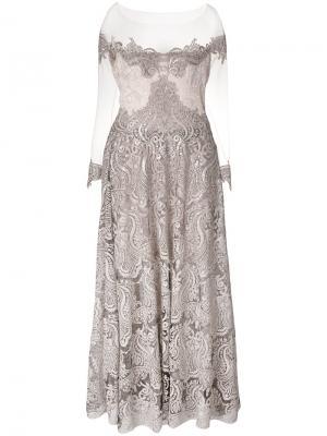 Платье с открытыми плечами Olvi´S. Цвет: телесный