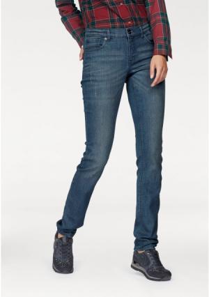 Джинсы-дудочки Aniston. Цвет: синий деним