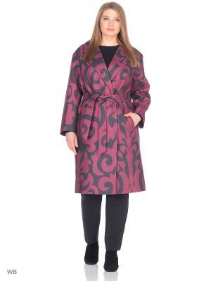 Пальто Chic de Femme. Цвет: черный, бордовый
