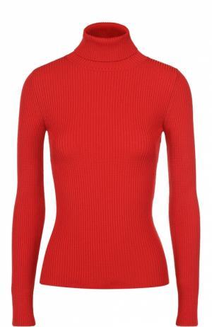 Облегающая водолазка фактурной вязки Balenciaga. Цвет: красный