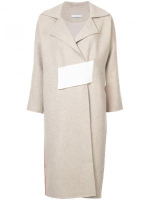 Пальто Kate с контрастным дизайном Rejina Pyo. Цвет: коричневый
