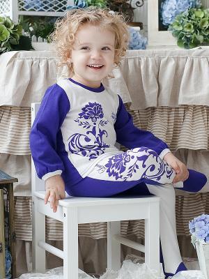 Лонгслив Lucky Child. Цвет: фиолетовый, белый