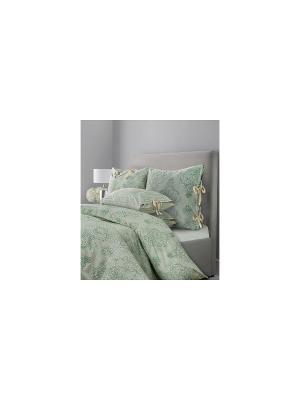 Комплект постельного белья SL Chalet Евро Зеленая олива Mona Liza. Цвет: зеленый