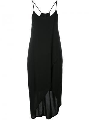 Платье с асимметричным подолом Poème Bohémien. Цвет: чёрный