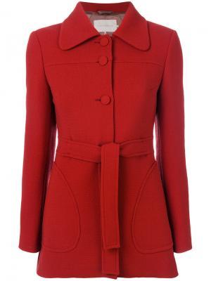 Приталенное пальто с поясом  LAutre Chose L'Autre. Цвет: красный