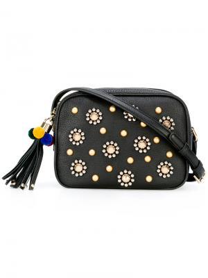 Декорированная сумка на плечо Glam Dolce & Gabbana. Цвет: чёрный