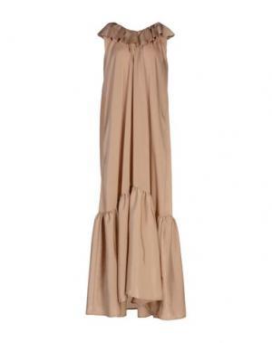 Длинное платье NINEMINUTES. Цвет: бежевый